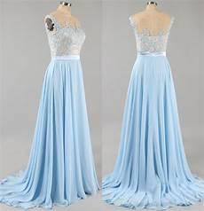 Light Blue Dress Cap Sleeves Light Blue Prom Dress With Floral Lace Applique Cap