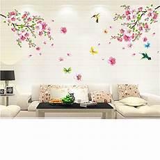 cherry blossom tree flower butterfly wall sticker vinyl