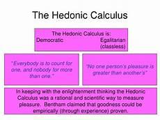 Hedonistic Calculus Utilitarianism Bentham Mill
