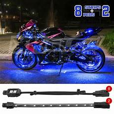 Motorcycle Led Light Kit Custom Motorcycle Underglow Accent Neon 60 Led 8 Pod 2