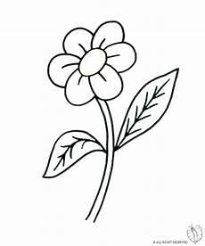 fiori disegni per bambini fiori da colorare e ritagliare