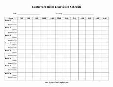 Conference Room Schedule Template Daily Conference Room Reservation Template