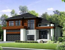 Storey Floor Plans Two Story Contemporary House Plan 80851pm