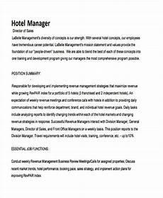 Career Portfolio Mission Statement Example Hotel Sales Mission Statement