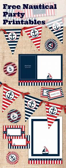 Printable Party Designs Free Nautical Party Printables From Ian Amp Lola Designs