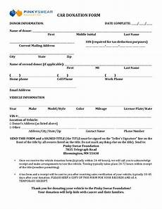 car donation receipt template car donation form swear free