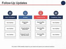 Powerpoint Update Template Follow Up Updates Ppt Professional Demonstration