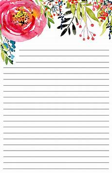 Printable Paper Free Printable Floral Stationery Paper Trail Design