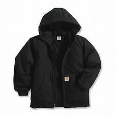 Carhartt Boys Size Chart Carhartt Boys 12 Oz Duck Outerwear Jacket With Hood At
