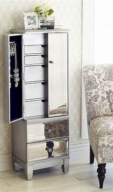 hayworth mirrored silver jewelry armoire jewelry armoire