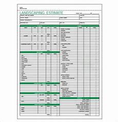 Lawn Care Estimate Forms Landscaping Estimate Template Pdf Format Download Jpg 585