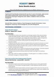 Experienced Hr Analyst Resume Benefits Analyst Resume Samples Qwikresume