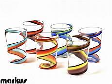 bicchieri vetro soffiato set composto da 6 bicchieri vortice in vetro soffiato di