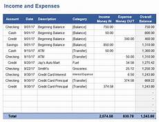 Income Expense Excel Template Income And Expense Tracking Worksheet