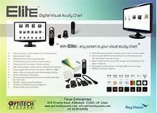 Elite Digital Visual Acuity Chart Optitech Eye Care Acuty Chart