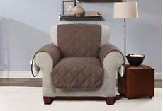 sure fit reversible flannel and sherpa chair furniture