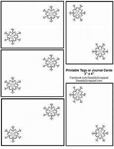 Christmas Labels Black And White Sweetly Scrapped Snowflake Journal Cards Or Tags
