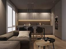 grey home decor with warm led lighting