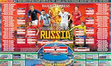 Fifa World Cup Russia Wall Chart World Cup Wall Chart Download Your Russia 2018 Version