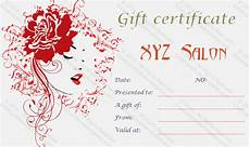 Hair Salon Gift Certificate Template Free Artistic Salon Gift Certificate Template