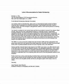 Sample Letter Of Recommendation For Scholarship Scholarship Recommendation Letter Free Sample Example