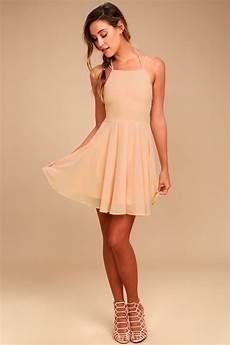 blush pink dress lace up dress backless dress