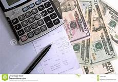 Calculating Expenses Calculating Expenses Stock Image Image Of Currency