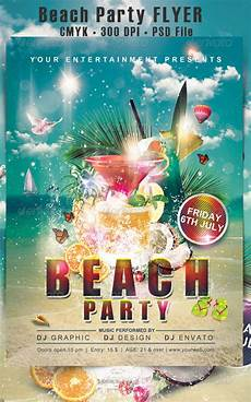 Beach Party Flyer Template Free Free 33 Awesome Beach Flyer Templates In Psd Ai