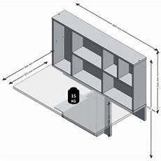 tavolo a ribalta da parete fmd tavolo a ribalta da parete con mensola bianco 658 002