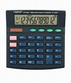 Buy Calculator Orpat Ot 555t Check Amp Correct Calculator Buy Online At