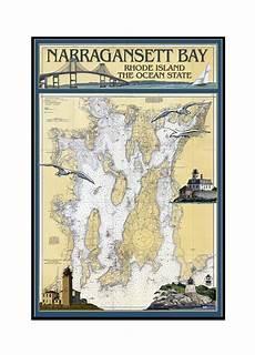 Chart House Narragansett Narragansett Bay Rhode Island Nautical Chart Lantern