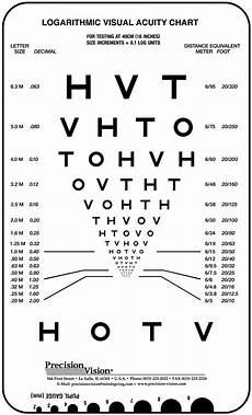Visual Acuity Picture Chart Near Vision Amp Reading Charts Precision Vision