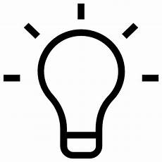 Led Light Bulb Symbol Light Bulb Free Technology Icons