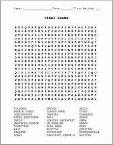 Final Exams Free Printable Word Search Puzzle Student