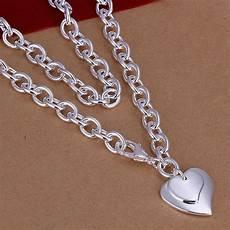 Designer Sterling Silver Necklaces 925 Sterling Silver Necklace Pendant Hearts B7 Ebay