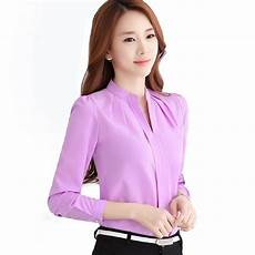 office blouse for 2016 new office shirts blouses pink purple