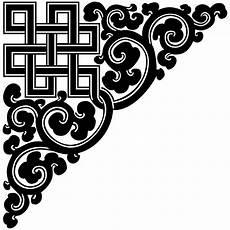 clipart design file tibetan endless knot corner ornament 01 svg