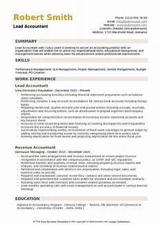 Accountant Resume Summary Lead Accountant Resume Samples Qwikresume