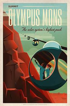 retro plakat spacex is inviting us to mars with some retro travel posters