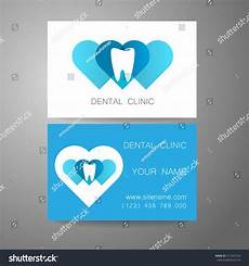 Dental Clinic Card Design Dental Clinic Template Design Logo Corporate Stock Vector