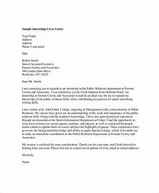 Cover Letter Internship Template Free 7 Professional Cover Letter Samples In Pdf Ms Word