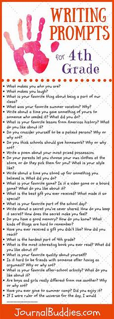 Example Essay Prompts 41 Writing Prompts For 4th Grade Journal Buddies