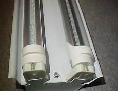 4 Ft Light Led 4 Ft Led Light Fixture With T8 Led Bulbs Shop And Garage