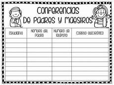 Parent Conference Sign In Sheet Spanish And English Parent Conference Sign In Sheet By