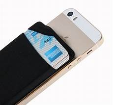 card sleeve for phone plus credit card secure holder stick on wallet