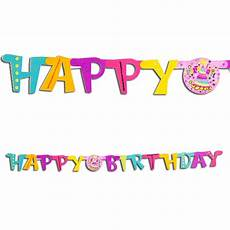 Birthday Girl Banner Party Girl Quot Happy Birthday Quot Jointed Banner 11179237784 Ebay