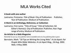 How To Do Mla Works Cited Ppt Mla Works Cited Powerpoint Presentation Id 6798633