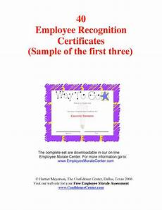 Employee Recognition Certificates Employee Recognition Certificates Pdf Format E