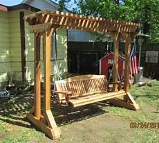pergola swing outdoor swing frames made cedar porch swings