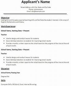 How Does A Resume Looks Like How Do The Teachers Resume Cv Looks Like What Is The